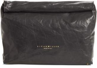 Simon Miller Lunchbag Leather Roll Top Clutch