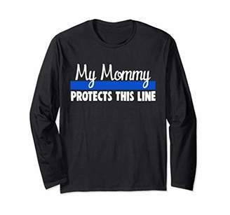Thin Line Shirt Police Daughter Law Enforcement Support Long Sleeve T-Shirt