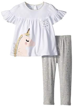 Mud Pie Unicorn Tunic and Leggings Two-Piece Set Girl's Suits Sets