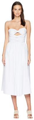 ADAM by Adam Lippes Striped Cotton Cami Dress w/ Knotted Bodice Women's Dress