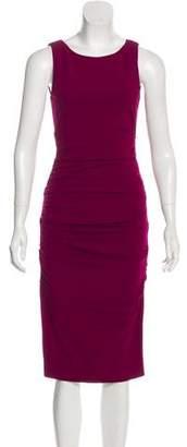 Nicole Miller Ruched Midi Dress