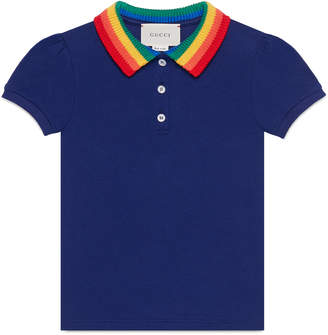 Gucci Children's cotton polo with butterfly