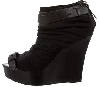 Givenchy Peep-Toe Wedge Ankle Boots
