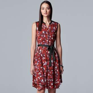 Vera Wang Women's Simply Vera Sleeveless Shirt Dress