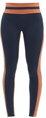Vaara Flo Tuxedo Striped Leggings - Womens - Navy Multi