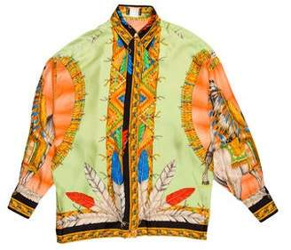 Versace 1992 Chieftain Dress Shirt
