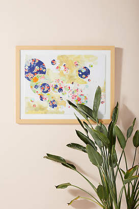 Anthropologie Floral Delight Wall Art