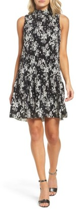 Women's Charles Henry Mock Neck Swing Dress $99 thestylecure.com