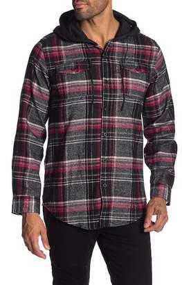 Burnside Long Sleeve Flannel Hoodie