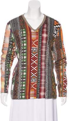 Just Cavalli Printed Knit Top