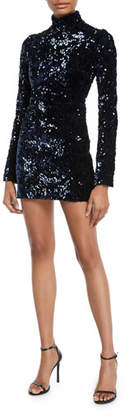 Alexis Rhapsody Sequin Turtleneck Mini Dress