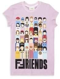 Fendi Little Girl's& Girl's Friends T-Shirt - Lilac - Size 10
