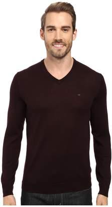 Calvin Klein Solid Merino V-Neck Sweater Men's Sweater