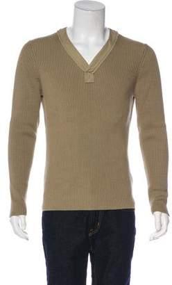 Bottega Veneta Ribbed V-Neck Sweater