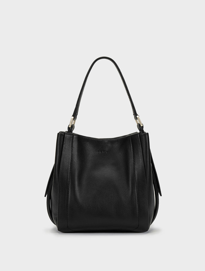 DKNY Greenwich Smooth Calf Leather Mini Bucket