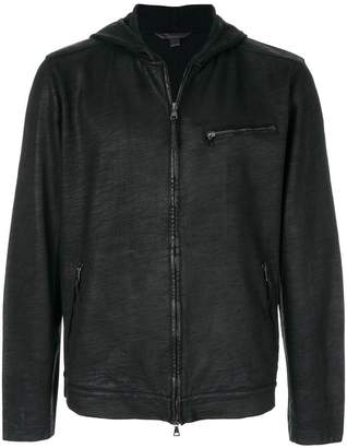 John Varvatos hooded zipped jacket