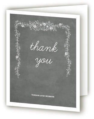 Chalkboard Graduation Announcement Thank You Cards