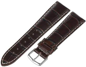 Hadley-Roma Men's 22mm Leather Watch Strap