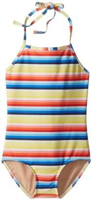 Toobydoo Retro Rainbow Stripe One-Piece Swimsuit Girl's Swimsuits One Piece