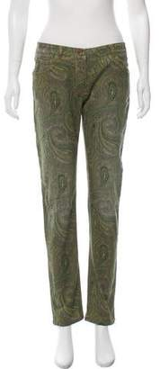 Etro Mid-Rise Printed Jeans