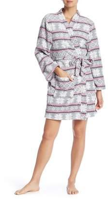 Couture PJ Dashing Through the Snow Printed Plush Robe