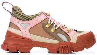 Gucci lace-up panelled sneakers