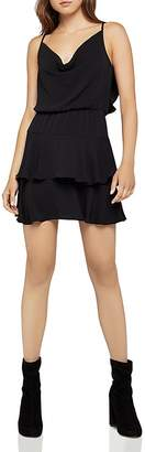 BCBGeneration Ruffled Cowl-Neck Dress