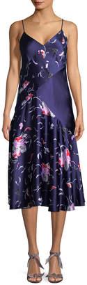 Prabal Gurung Silk Combo Slip Dress