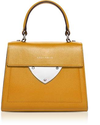 Coccinelle B14 Mini Tumbled Leather Satchel Bag