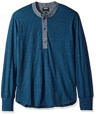 Todd Snyder Men's Chambray Collar Classic Henley Shirt
