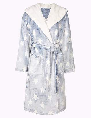 Marks and Spencer Supersoft Star Print Hooded Dressing Gown