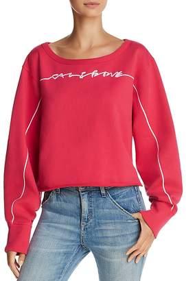 Rag & Bone Embroidered Cropped Sweatshirt - 100% Exclusive