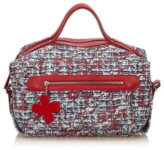 Chanel Vintage Clover Cotton Handbag