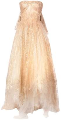 Oscar de la Renta strapless long gown