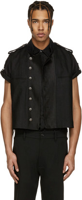 Ann Demeulemeester Black Biker Vest $860 thestylecure.com