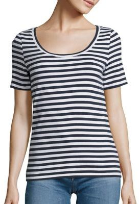 AG Breton Striped Cotton Tee $138 thestylecure.com