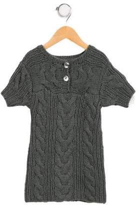 Marie Chantal Girls' Wool-Blend Sweater Dress