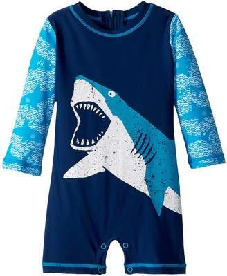 Hatley Shark Alley Mini Rashguard One-Piece Boy's Swimsuits One Piece