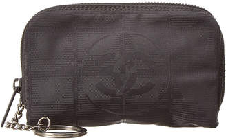 Chanel Limited Edition Black Leather Travel Line Coin Purse