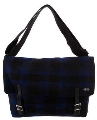 Jack Spade Plaid Flannel Messenger Bag