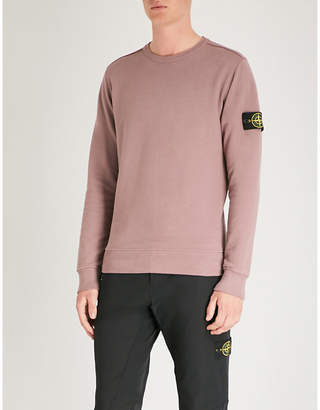 Stone Island Logo patch-embroidered cotton-jersey jumper