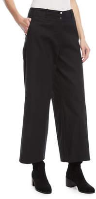 Loro Piana Benton Wide-Leg Tricot Stretch-Cotton Pants