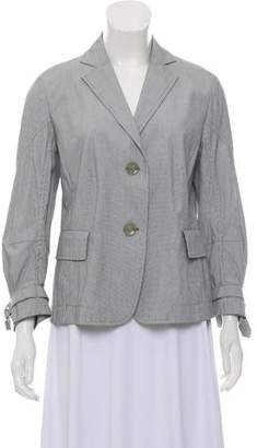 Akris Punto Striped Three-Quarter Sleeve Blazer