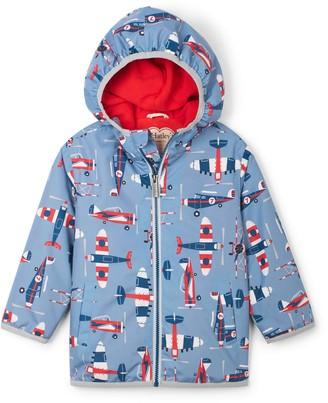 Hatley Paper Planes Waterproof Hooded Raincoat