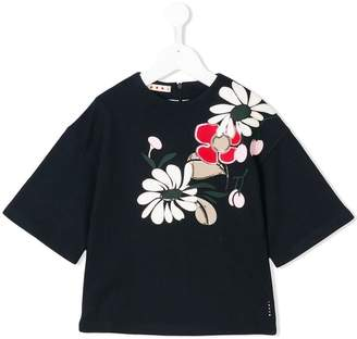 Marni floral appliqué detail top