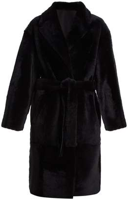 Yves Salomon Reversible tie-waist shearling coat