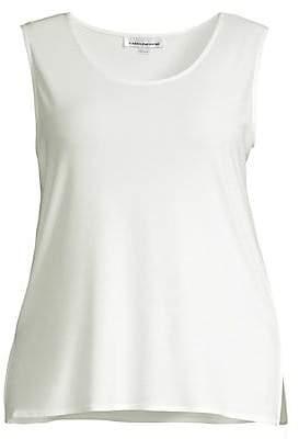 Caroline Rose Caroline Rose, Plus Size Women's Knit Long Tank Top