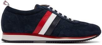 Thom Browne Low-top suede and calf-leather trainers