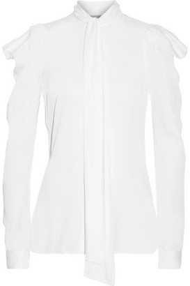 MICHAEL Michael Kors Pussy-Bow Silk-Blend Blouse