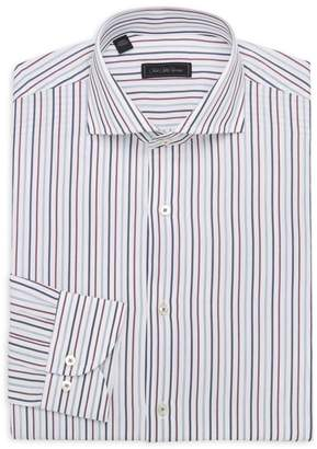 Saks Fifth Avenue MODERN Verticl Strie Cotton Dress Shirt